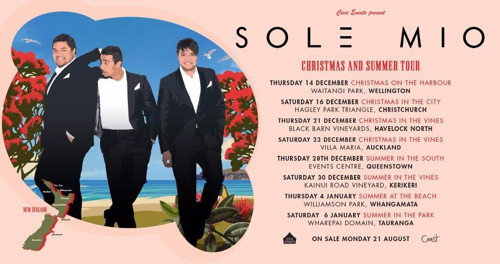 Sol3 Mio Christmas NZ tour
